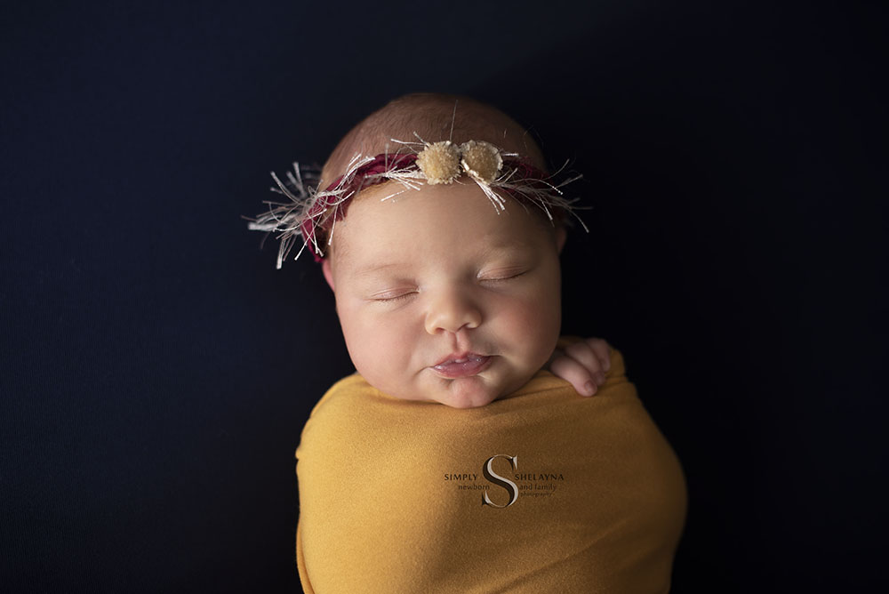 Vega all wrapped up  CNY Newborn Photography