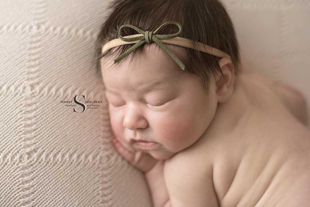 Brooklyn profile portrait in bum up  CNY Newborn Photography