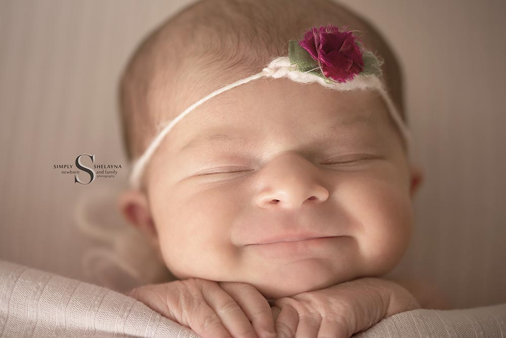 Macro portrait of Lucy  CNY Newborn Photography