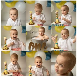 Grayson's Cake Smash   CNY Baby Photographer
