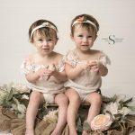 Cora and Madi's Cake Smash Session   Oswego NY Baby Photographer